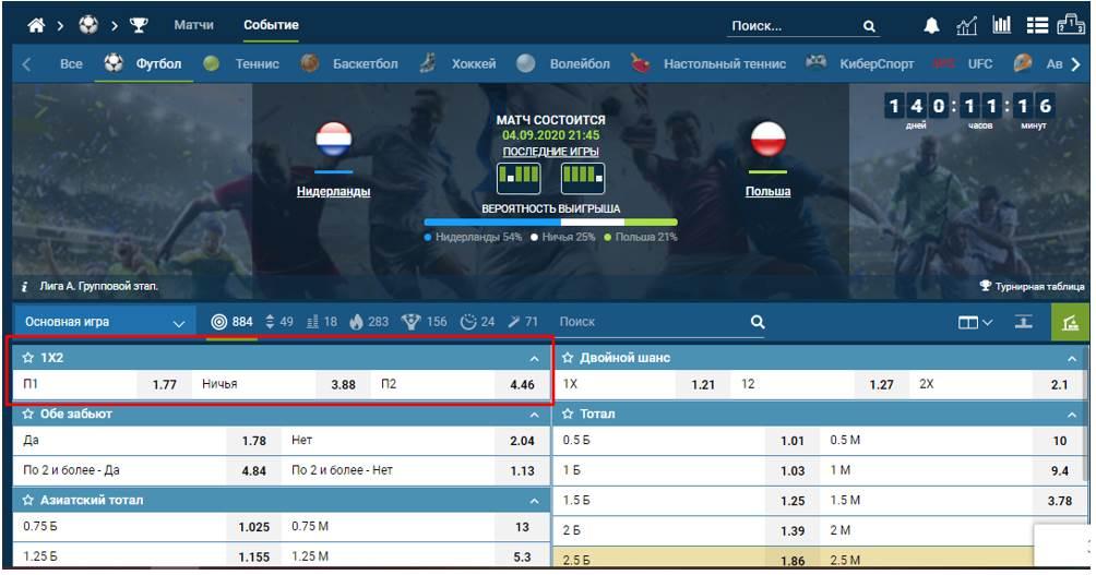 пример на матче Нидерландов с Польшей